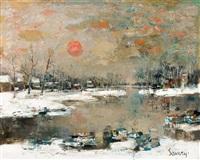 la lys en hiver by albert saverys