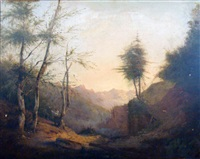 le bucheron dans la vallée by hippolyte leymarie