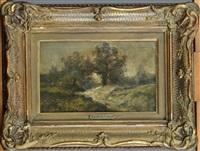 paysage boisé by hippolyte emmanuel boulenger