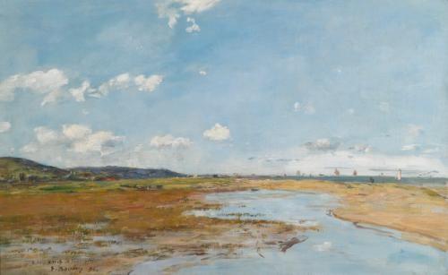 deauville le rivage by eugène boudin