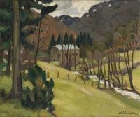 vue de la vallée du petit-fayt by albert lemaitre