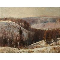 winter landscape by william edwin atkinson