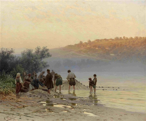 bay on the dnieper by nikolai alexandrovich sergeev