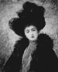 girl in a plumed hat by abraham archibald anderson