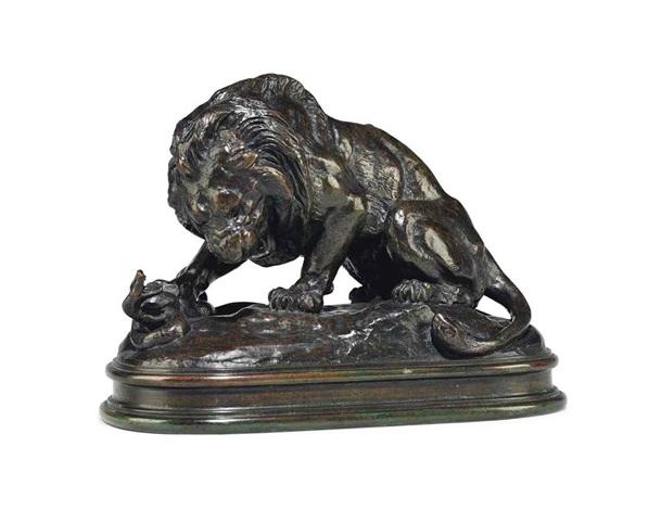 lion au serpent no. 2 by antoine-louis barye