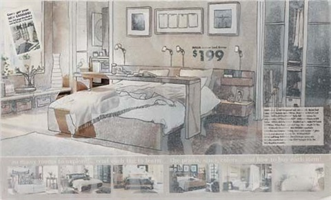 cut away bedroom by beth campbell