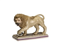 medici lion by staffordshire