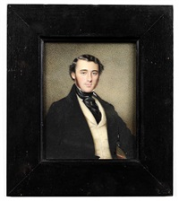 portrait of a gentleman (+ portrait of a lady; 2 works) by thomas heathfield carrick