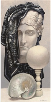 head and shell still life by martin battersby
