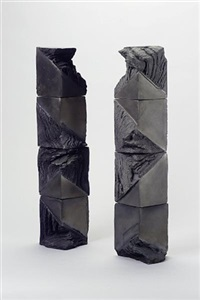 a two-part sculptural form by quinette meister
