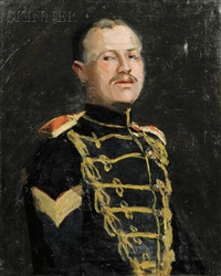 the sergeant, portrait of a gentleman in uniform by elizabeth grandin