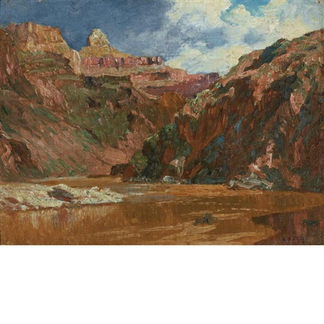 panoramic view of the grand canyon by edward henry potthast
