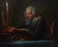 portrait des lesenden abbé huber by édouard joseph dantan