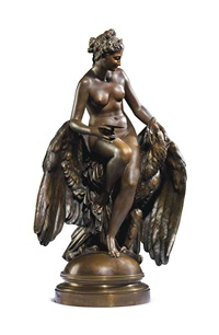 hebe and jupiter's eagle by louis julien (jules) franceschi