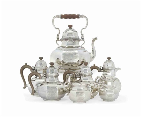 tea and coffee service set of 6 by richard comyns