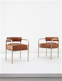 armchairs (pair) by rené herbst