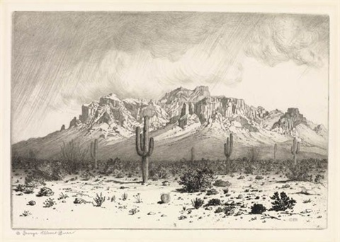 superstition mountain apache trail arizona by george elbert burr