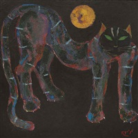 kucing dan bulan (cat and the moon) by popo iskandar