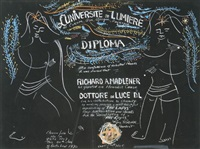 l'université de luminière diploma to richard a. madlener by irene rice pereira