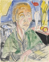 frauenbildnis (portrait of a woman) by erich heckel