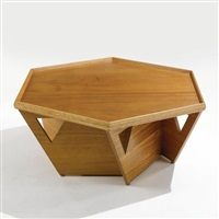 coffee table designed from the l.h. mccullough house, wichita falls, texas by bruce goff