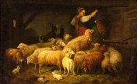 the shepherdess in the barn by henry campotosto