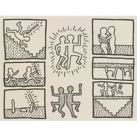 The blueprint drawings by keith haring on artnet the blueprint drawings by keith haring malvernweather Images