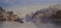 inside the estuary at dartmouth by e.w. firth