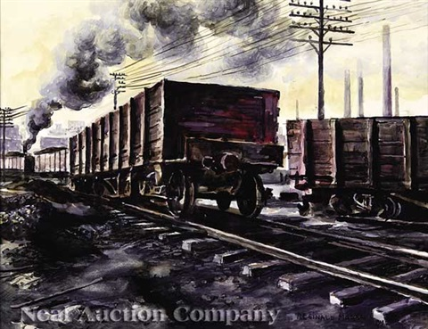 train yard by reginald marsh