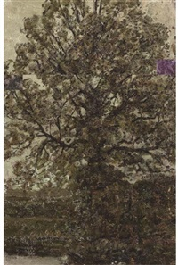 trees in springtime by jan adam zandleven
