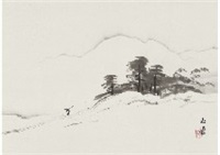 clear weather after snowfall by gyokudo kawai