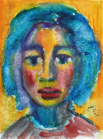 mädchenkopf selbstporträt by christa valazza