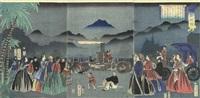 furansukoku - france (+2 others; triptych) by utagawa yoshitora