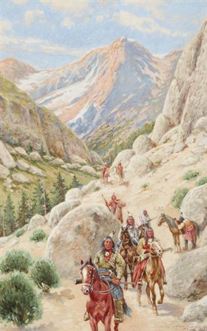 indians in the pass by john hauser