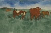kühe auf der weide (cows at pasture) by emil nolde