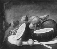 still life with watermelon by clarissa dodge