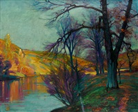 bords de la creuse, automne by alfred smith