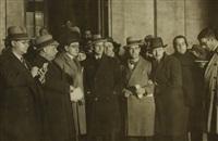 santiago casares quiroga rodeado de periodistas by alfonso