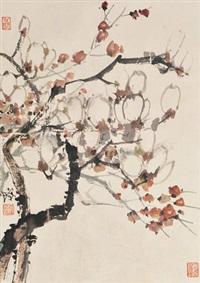 花卉 镜片 设色纸本 by cheng shifa