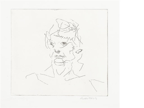 julia six etchings of heads by frank auerbach