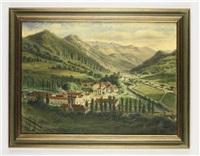 ansicht einer klosteranlage by carl von zellenberg