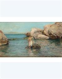 giovinetta sulla spiaggia by alceste campriani