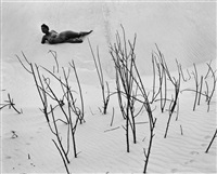 nude on dunes by edward weston