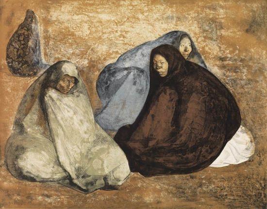 grupo de mujeres sentadas i by francisco zúñiga