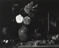 still life on an artist's table by pierre langlade