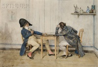 the game of dominos by alexandre-louis leloir
