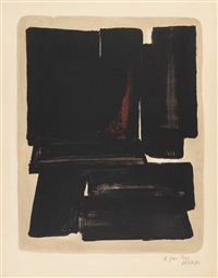 lithographie n° 7a by pierre soulages