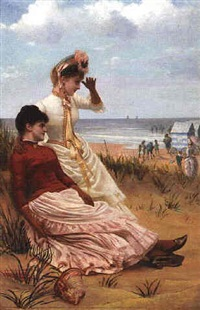 on the beach by georges van den bos