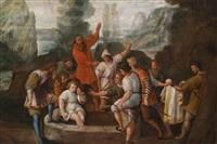 joseph wird von seinen brüdern in den brunnen geworfen by johann heiss