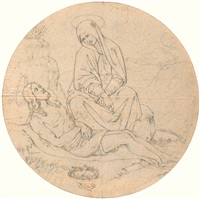 maria nimmt abschied vom leichnam des herrn by johann friedrich overbeck